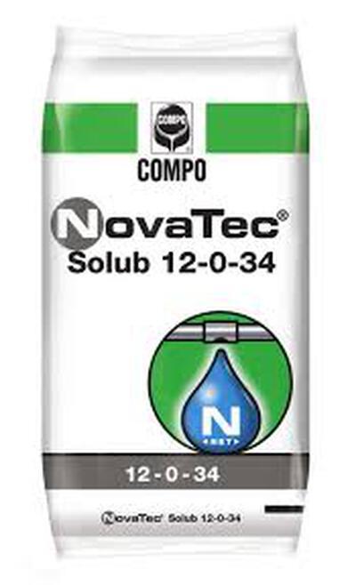 METROB NOVATEC SOLUB 12-0-34 25 KG